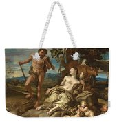 Adam And Eve With The Infants Cain And Abel Weekender Tote Bag