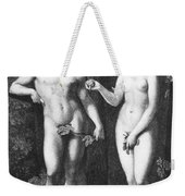 Adam & Eve Weekender Tote Bag