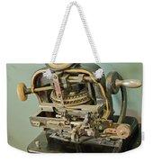 Addressograph Hand Graphotype Weekender Tote Bag