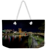 Adelaide Riverbank At Night Iv Weekender Tote Bag