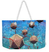 Adenovirus Particles 3 Weekender Tote Bag by Russell Kightley