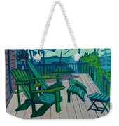 Adirondack Chairs Maine Weekender Tote Bag