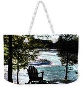 Adirondack Silhouette Weekender Tote Bag
