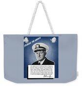 Admiral Nimitz Speaking For America Weekender Tote Bag