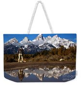 Admiring The Teton Sights Weekender Tote Bag