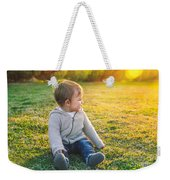 Adorable Baby Playing Outdoors Weekender Tote Bag