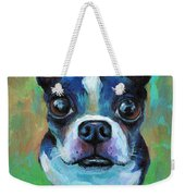 Adorable Boston Terrier Dog Weekender Tote Bag