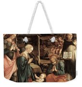 Adoration Of The Child With Saints 1460 65 Fra Filippo Lippi Weekender Tote Bag