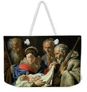 Adoration Of The Infant Jesus Weekender Tote Bag