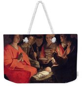 Adoration Of The Shepherds Weekender Tote Bag by Georges de la Tour