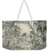 Adoration Of The Shepherds, With Lamp Weekender Tote Bag