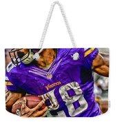 Adrian Peterson Minnesota Vikings Art Weekender Tote Bag