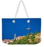 Adriatic Town Of Vis Sailing Destination Waterfront Weekender Tote Bag