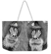 Adult Male Mandrills Black And White Version Weekender Tote Bag