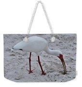 Adult White Ibis Weekender Tote Bag