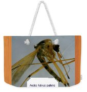 Aedes Fulvus Pallens- Mosquito Weekender Tote Bag