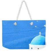 Aegean Blue Weekender Tote Bag