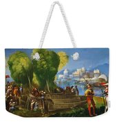 Aeneas And Achates On The Libyan Coast 1520 Weekender Tote Bag