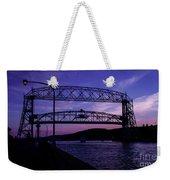 Aerial Lift Bridge At Sundown Weekender Tote Bag