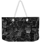 Aerial New York City Skyscrapers Bw Weekender Tote Bag