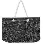 Aerial New York City Sunset Bw Bw Weekender Tote Bag
