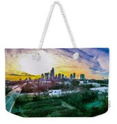 Aerial Of Charlotte North Carolina Skyline Weekender Tote Bag