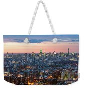 Aerial Of Midtown Manhattan With Empire State Building, New York Weekender Tote Bag