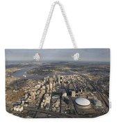 Aerial Of New Orleans Looking East Weekender Tote Bag