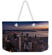 Aerial Seattle Westward View Weekender Tote Bag