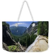 Aerial View From The Top Of The Upper Yosemite Fall Weekender Tote Bag