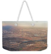Aerial View Of Downtown Austin From Plane About To Land Weekender Tote Bag