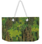 Aerial View Of Forest On Mountainside Weekender Tote Bag