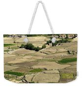 Aerial View Of Green Ladakh Agricultural  Landscape Weekender Tote Bag