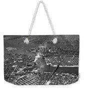 Aerial View Of Lower Manhattan Weekender Tote Bag