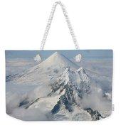 Aerial View Of Shishaldin Volcano Weekender Tote Bag by Richard Roscoe