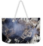Aerial View Of The Destruction Where Weekender Tote Bag by Stocktrek Images