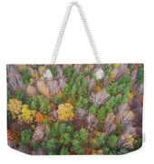 Aerial View Of The Forrest With Different Color Trees.  Weekender Tote Bag