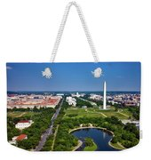Aerial View Of The National Mall And Washington Monument Weekender Tote Bag