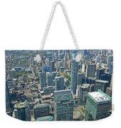 Aerial View Of Toronto Looking North Weekender Tote Bag