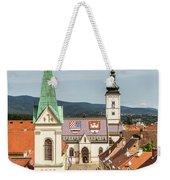 Aerial View Of Zagreb In Croatia Weekender Tote Bag
