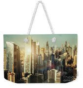 Aerial View Over Dubai's Towers At Sunset.  Weekender Tote Bag
