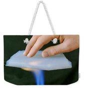 Aerogel, Synthetic Ultralight Material Weekender Tote Bag