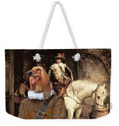 Afghan Hound-at The Tavern Canvas Fine Art Print Weekender Tote Bag