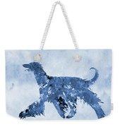 Afghan Hound-blue Weekender Tote Bag
