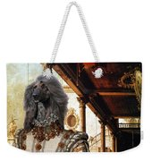 Afghan Hound-capriccio Of Colonade And The Courtyard Of A Palace Canvas Fine Art Print Weekender Tote Bag