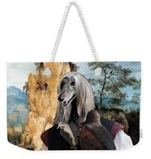 Afghan Hound-falconer And Windmill Canvas Fine Art Print Weekender Tote Bag