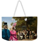 Afghan Hound-politicians In The Tuileries Gardens  Canvas Fine Art Print Weekender Tote Bag