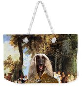 Afghan Hound-the Winch Canvas Fine Art Print Weekender Tote Bag