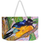 African Blue Eared Starling Weekender Tote Bag