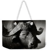African Buffalo Bull Close-up Weekender Tote Bag